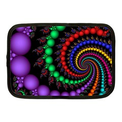 Fractal Background With High Quality Spiral Of Balls On Black Netbook Case (medium)