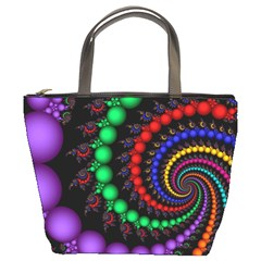 Fractal Background With High Quality Spiral Of Balls On Black Bucket Bags