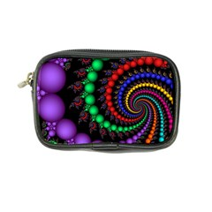 Fractal Background With High Quality Spiral Of Balls On Black Coin Purse