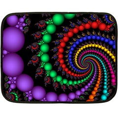 Fractal Background With High Quality Spiral Of Balls On Black Double Sided Fleece Blanket (mini)