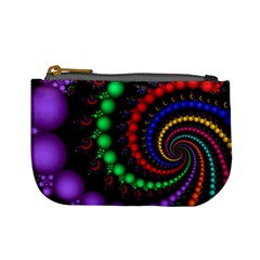 Fractal Background With High Quality Spiral Of Balls On Black Mini Coin Purses