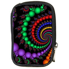 Fractal Background With High Quality Spiral Of Balls On Black Compact Camera Cases