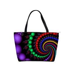 Fractal Background With High Quality Spiral Of Balls On Black Shoulder Handbags