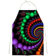 Fractal Background With High Quality Spiral Of Balls On Black Full Print Aprons
