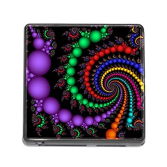 Fractal Background With High Quality Spiral Of Balls On Black Memory Card Reader (square)