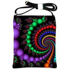 Fractal Background With High Quality Spiral Of Balls On Black Shoulder Sling Bags