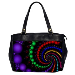 Fractal Background With High Quality Spiral Of Balls On Black Office Handbags