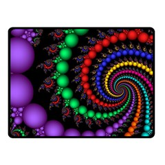 Fractal Background With High Quality Spiral Of Balls On Black Fleece Blanket (Small)