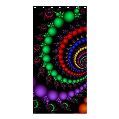 Fractal Background With High Quality Spiral Of Balls On Black Shower Curtain 36  X 72  (stall)