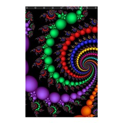 Fractal Background With High Quality Spiral Of Balls On Black Shower Curtain 48  X 72  (small)