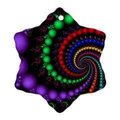 Fractal Background With High Quality Spiral Of Balls On Black Ornament (Snowflake)