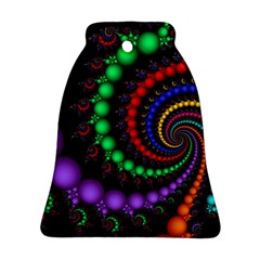 Fractal Background With High Quality Spiral Of Balls On Black Ornament (Bell)
