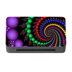Fractal Background With High Quality Spiral Of Balls On Black Memory Card Reader With Cf