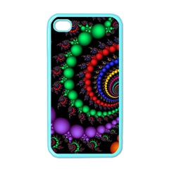Fractal Background With High Quality Spiral Of Balls On Black Apple iPhone 4 Case (Color)