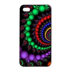Fractal Background With High Quality Spiral Of Balls On Black Apple iPhone 4/4s Seamless Case (Black)