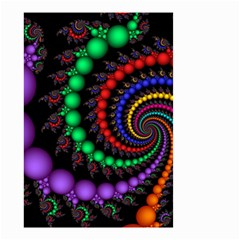 Fractal Background With High Quality Spiral Of Balls On Black Small Garden Flag (two Sides)