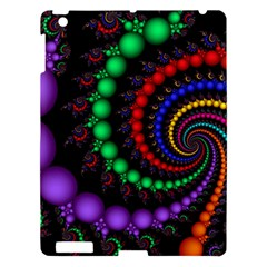 Fractal Background With High Quality Spiral Of Balls On Black Apple Ipad 3/4 Hardshell Case