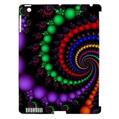 Fractal Background With High Quality Spiral Of Balls On Black Apple Ipad 3/4 Hardshell Case (compatible With Smart Cover)