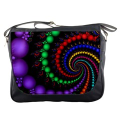 Fractal Background With High Quality Spiral Of Balls On Black Messenger Bags