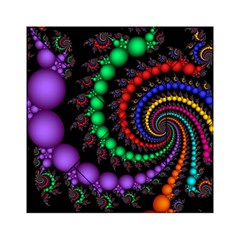 Fractal Background With High Quality Spiral Of Balls On Black Acrylic Tangram Puzzle (6  X 6 )