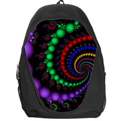 Fractal Background With High Quality Spiral Of Balls On Black Backpack Bag