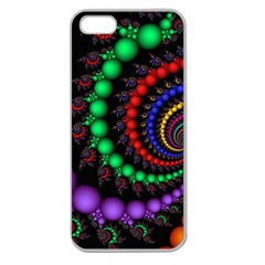 Fractal Background With High Quality Spiral Of Balls On Black Apple Seamless iPhone 5 Case (Clear)