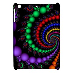 Fractal Background With High Quality Spiral Of Balls On Black Apple Ipad Mini Hardshell Case