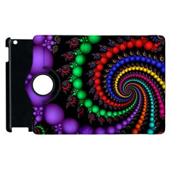 Fractal Background With High Quality Spiral Of Balls On Black Apple iPad 3/4 Flip 360 Case