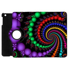Fractal Background With High Quality Spiral Of Balls On Black Apple Ipad Mini Flip 360 Case