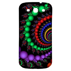 Fractal Background With High Quality Spiral Of Balls On Black Samsung Galaxy S3 S Iii Classic Hardshell Back Case