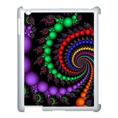 Fractal Background With High Quality Spiral Of Balls On Black Apple Ipad 3/4 Case (white)