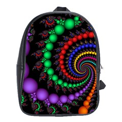Fractal Background With High Quality Spiral Of Balls On Black School Bags (xl)