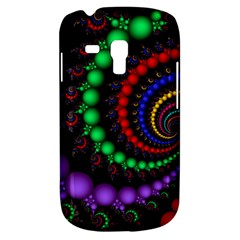 Fractal Background With High Quality Spiral Of Balls On Black Galaxy S3 Mini