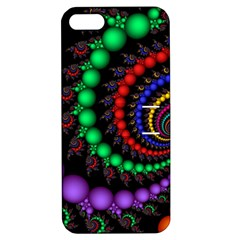 Fractal Background With High Quality Spiral Of Balls On Black Apple Iphone 5 Hardshell Case With Stand