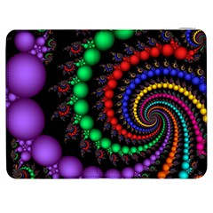 Fractal Background With High Quality Spiral Of Balls On Black Samsung Galaxy Tab 7  P1000 Flip Case