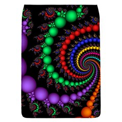 Fractal Background With High Quality Spiral Of Balls On Black Flap Covers (L)