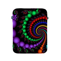 Fractal Background With High Quality Spiral Of Balls On Black Apple Ipad 2/3/4 Protective Soft Cases