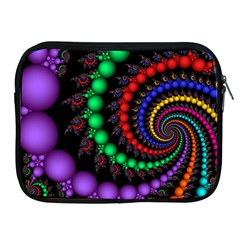 Fractal Background With High Quality Spiral Of Balls On Black Apple Ipad 2/3/4 Zipper Cases