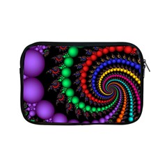 Fractal Background With High Quality Spiral Of Balls On Black Apple iPad Mini Zipper Cases