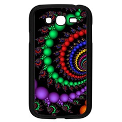 Fractal Background With High Quality Spiral Of Balls On Black Samsung Galaxy Grand Duos I9082 Case (black)