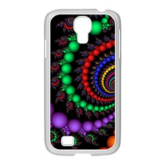 Fractal Background With High Quality Spiral Of Balls On Black Samsung Galaxy S4 I9500/ I9505 Case (white)