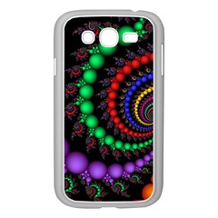 Fractal Background With High Quality Spiral Of Balls On Black Samsung Galaxy Grand DUOS I9082 Case (White)