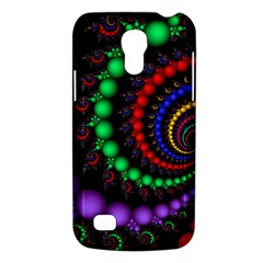 Fractal Background With High Quality Spiral Of Balls On Black Galaxy S4 Mini