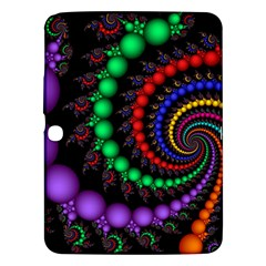 Fractal Background With High Quality Spiral Of Balls On Black Samsung Galaxy Tab 3 (10.1 ) P5200 Hardshell Case