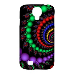 Fractal Background With High Quality Spiral Of Balls On Black Samsung Galaxy S4 Classic Hardshell Case (pc+silicone)