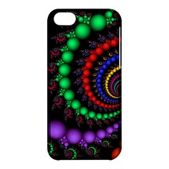 Fractal Background With High Quality Spiral Of Balls On Black Apple Iphone 5c Hardshell Case