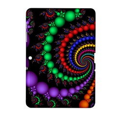 Fractal Background With High Quality Spiral Of Balls On Black Samsung Galaxy Tab 2 (10 1 ) P5100 Hardshell Case