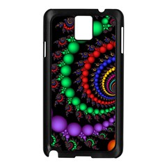 Fractal Background With High Quality Spiral Of Balls On Black Samsung Galaxy Note 3 N9005 Case (black)