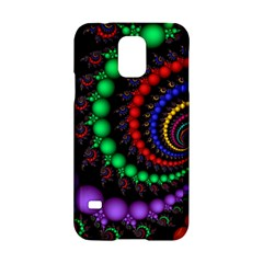 Fractal Background With High Quality Spiral Of Balls On Black Samsung Galaxy S5 Hardshell Case