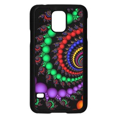 Fractal Background With High Quality Spiral Of Balls On Black Samsung Galaxy S5 Case (black)